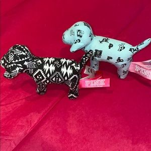 2 mini PINK Victoria Secret Dog bundle